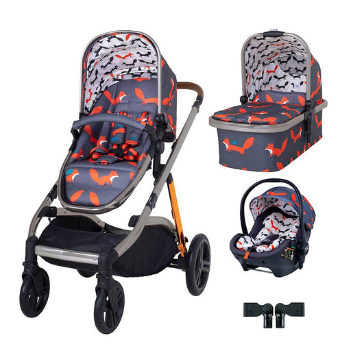Cosatto Wow XL Premium Travel System Bundle - Charcoal Mister Fox