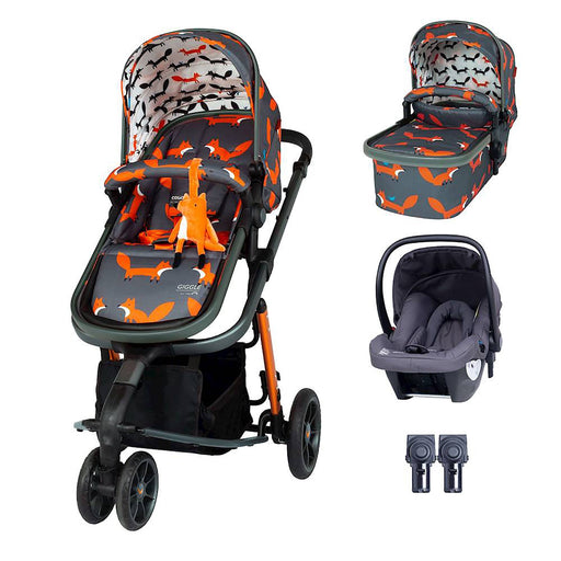 Cosatto Giggle 3 Travel System Bundle with Hold Car Seat - Charcoal Mister Fox