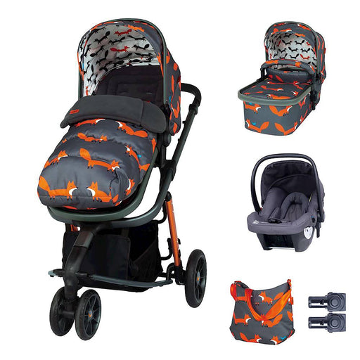 Cosatto Giggle 3 Marvellous Bundle with Hold Car Seat - Charcoal Mister Fox