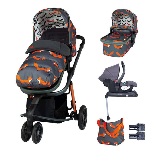 Cosatto Giggle 3 Whole 9 Yards Bundle with Hold Car Seat - Charcoal Mister Fox