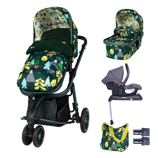 Cosatto Giggle 3 Whole 9 Yards Bundle with Hold Car Seat - Into the Wild