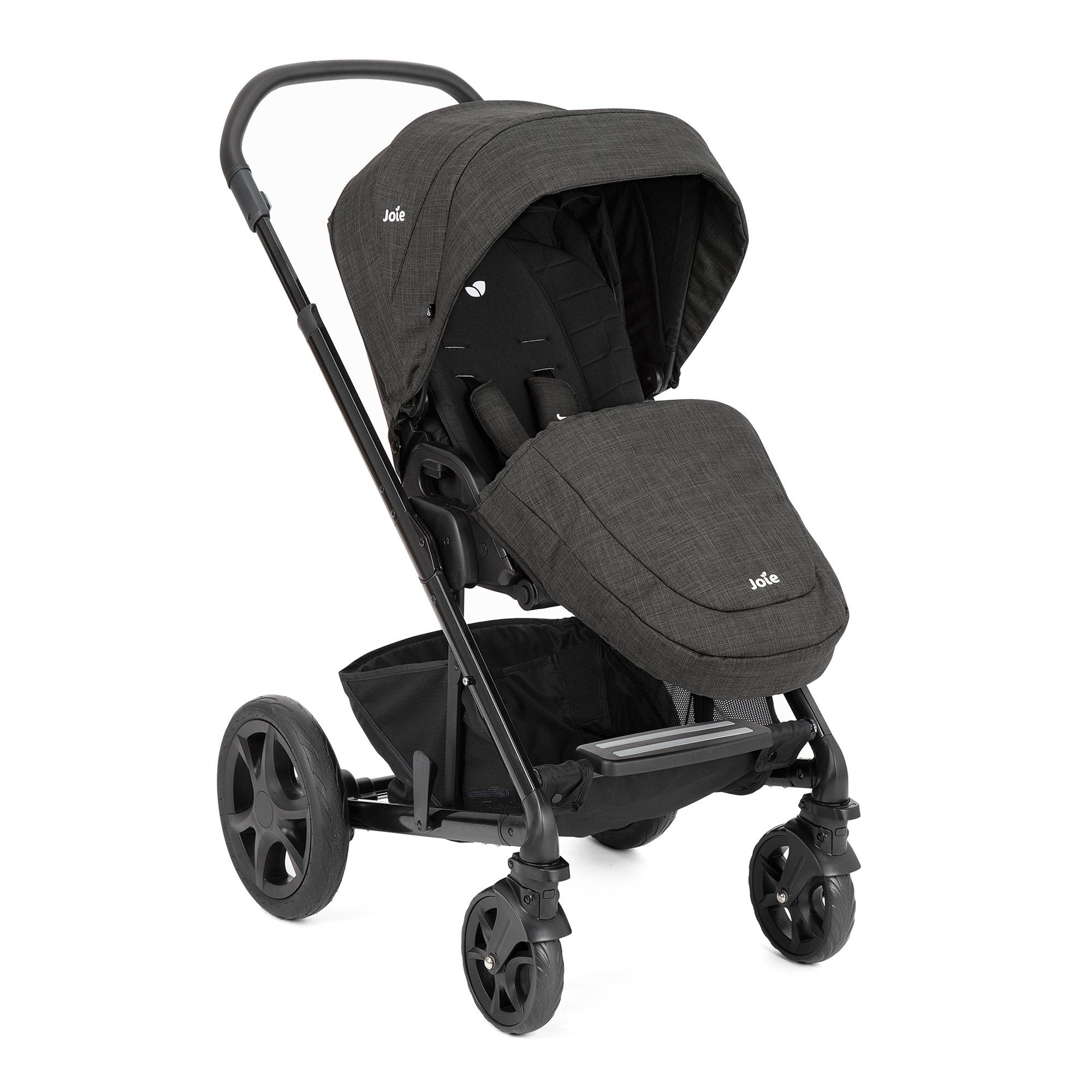 Joie Chrome DLX pushchair & carrycot incl. footmuff - Pavement (Grey) 2020 model - Pushchair Expert