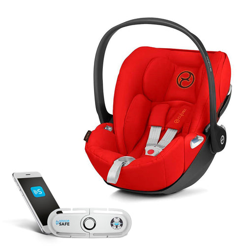 Cybex Cloud Z i-Size infant car seat  with SensorSafe - Autumn Gold (burnt red) - Pushchair Expert