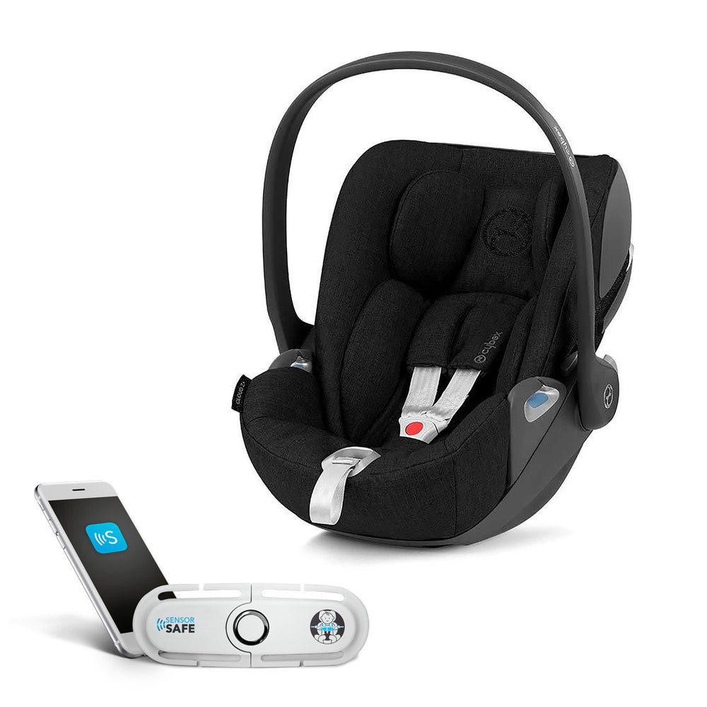 Cybex Cloud Z i-Size infant car seat with SensorSafe - Deep Black - Pushchair Expert