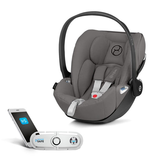 Cybex Cloud Z i-Size infant car seat with SensorSafe - Soho Grey - Pushchair Expert