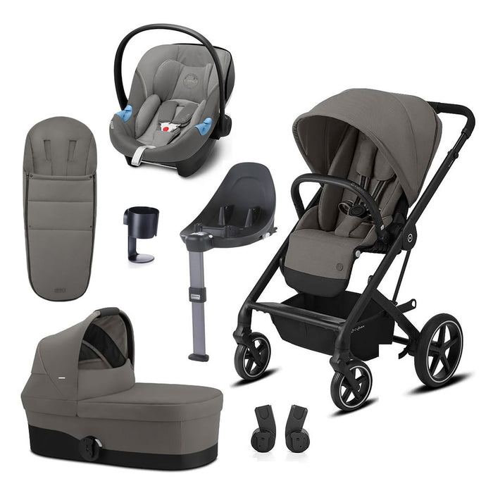 Cybex Balios S Lux travel system bundle - Soho Grey (Black frame)