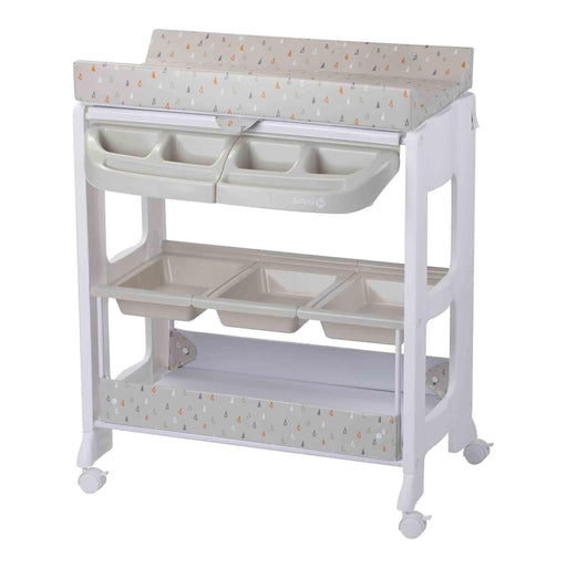 Safety 1st Dolphy Changing Unit with Baby Bath - Warm Grey