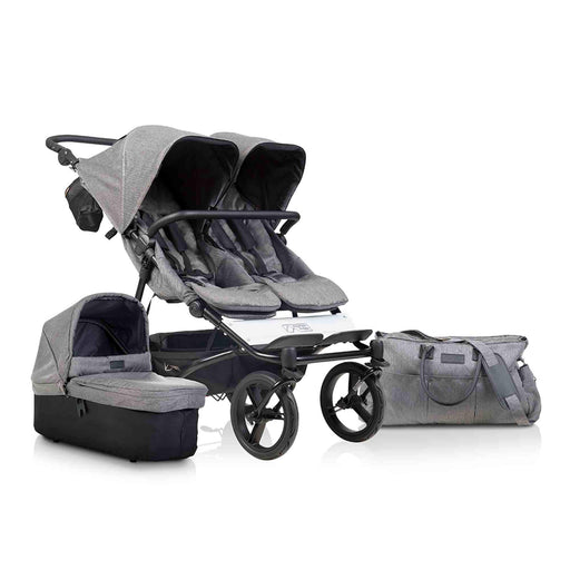 Mountain Buggy Duet Luxury Collection Pushchair and Carrycot - Herringbone - Pushchair Expert