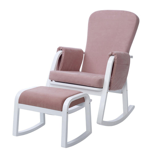 Ickle Bubba Dursley Rocking Chair and Stool - Blush Pink