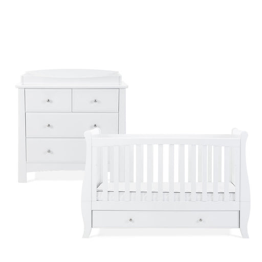 Silver Cross Elegance Sleigh Cot Bed and Dresser - Pushchair Expert