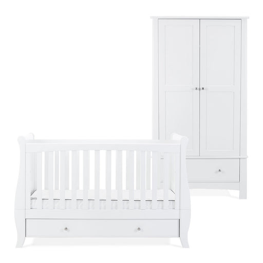 Silver Cross Elegance Sleigh Cot Bed and Wardrobe - Pushchair Expert