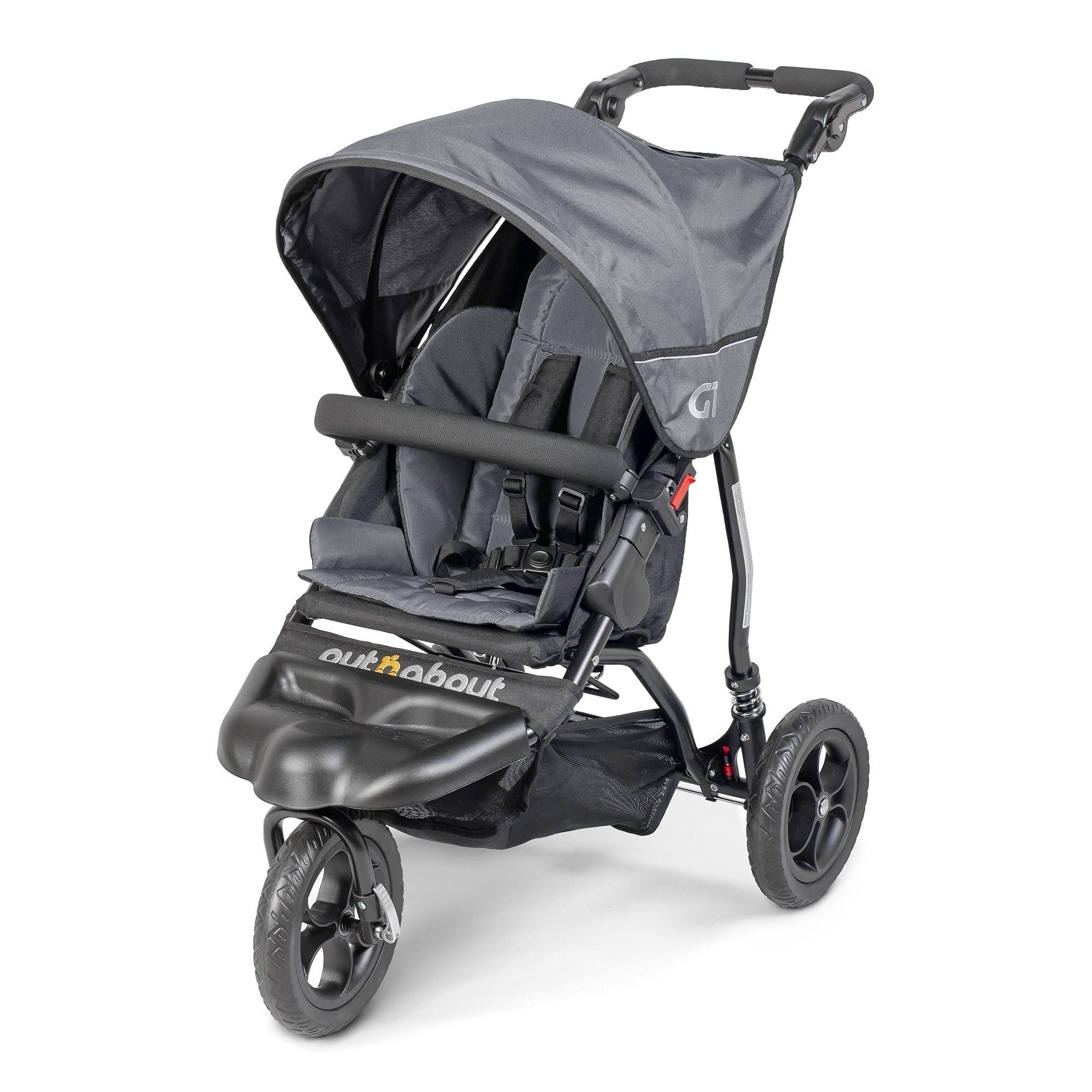 Out'n'About GT Single Pushchair - Steel Grey