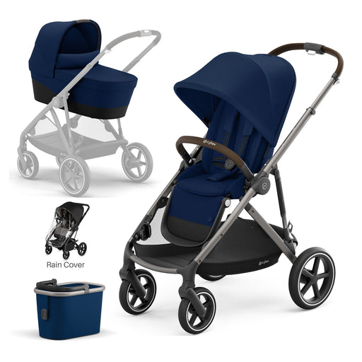 Cybex Gazelle S with carrycot - Navy Blue (Taupe frame)