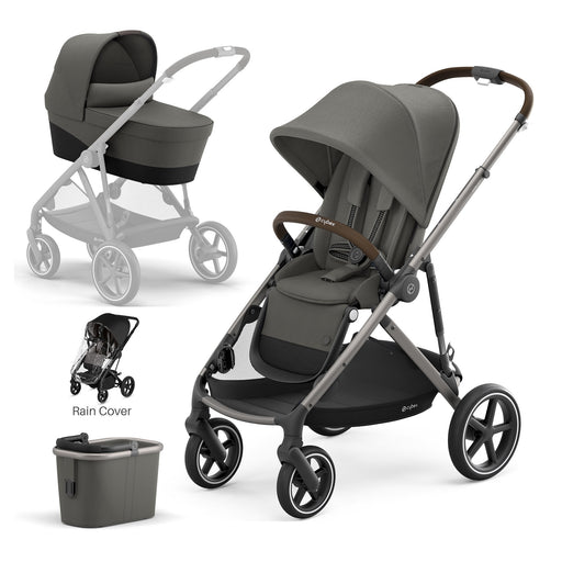 Cybex Gazelle S with carrycot - Soho Grey (Taupe frame)