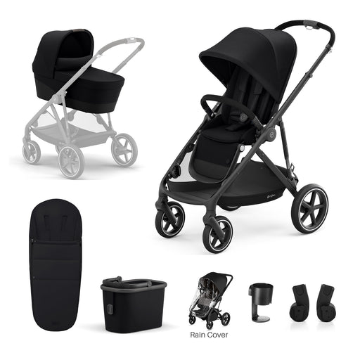 Cybex Gazelle S 7-piece bundle - Deep Black (Black frame)