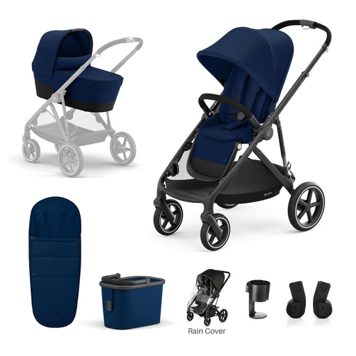 Cybex Gazelle S 7-piece bundle - Navy Blue (Black frame)