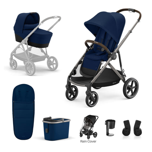 Cybex Gazelle S 7-piece bundle - Navy Blue (Taupe frame)