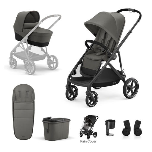 Cybex Gazelle S 7-piece bundle - Soho Grey (Black frame)