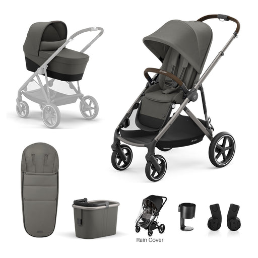 Cybex Gazelle S 7-piece bundle - Soho Grey (Taupe frame)