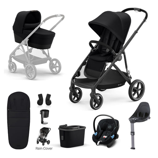 Cybex Gazelle S 9-piece bundle - Deep Black (Black frame)
