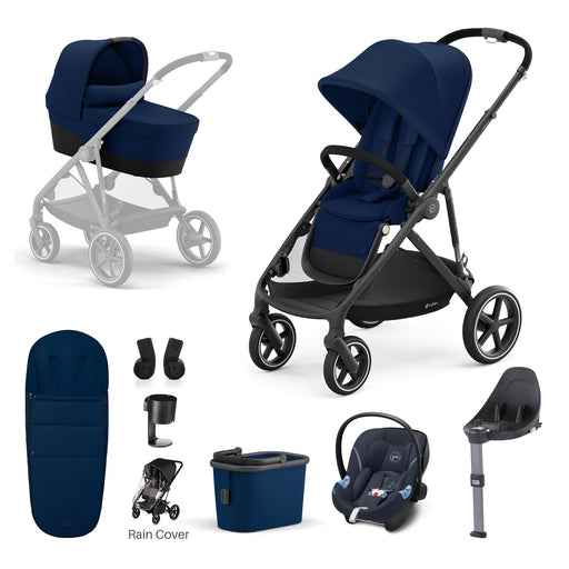 Cybex Gazelle S - 9-piece bundle - Navy Blue (Black frame)