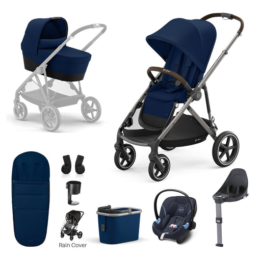 Cybex Gazelle S - 9-piece bundle - Navy Blue (Taupe frame)