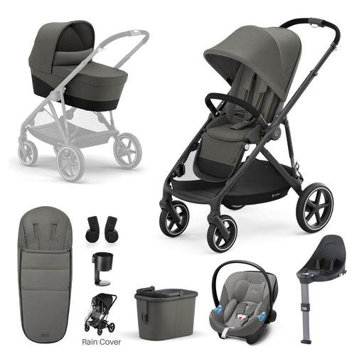 Cybex Gazelle S - 9-piece bundle - Soho Grey (Black frame)
