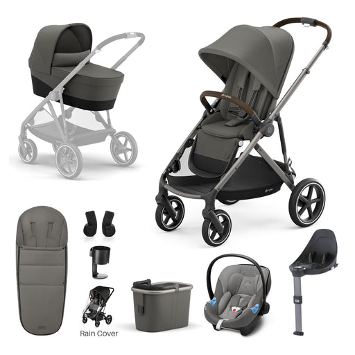 Cybex Gazelle S - 9-piece bundle - Soho Grey (Taupe frame)