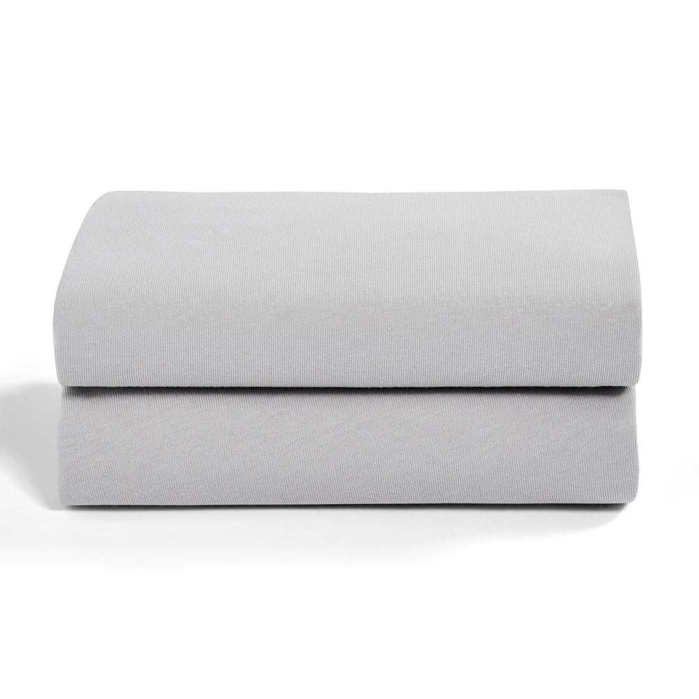 Snuz Crib 2 Pack Fitted Sheets - Plain Grey