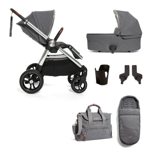 Mamas & Papas Ocarro Travel System - Essentials Kit - Grey Mist - Pushchair Expert