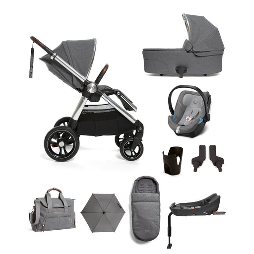 Mamas & Papas Ocarro Travel System - Complete Kit - Grey Mist - Pushchair Expert