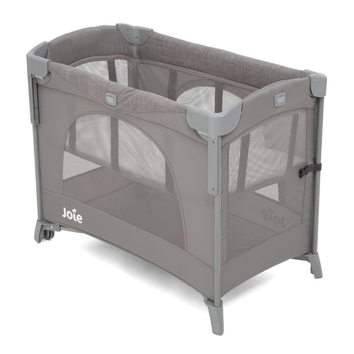 Joie Kubbie Sleep Travel Cot - Foggy Grey - Pushchair Expert