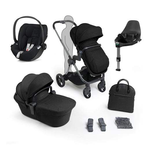 iCandy Lime Lifestyle travel system bundle with Cybex Cloud Z - Phantom Black