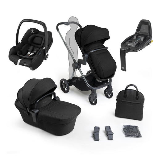 iCandy Lime Lifestyle travel system bundle with Maxi-Cosi Tinca - Phantom Black