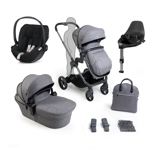iCandy Lime Lifestyle travel system bundle with Cybex Cloud Z - Phantom Charcoal