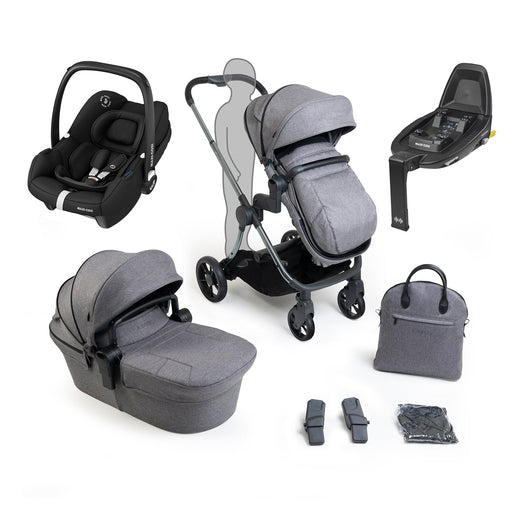 iCandy Lime Lifestyle travel system bundle with Maxi-Cosi Tinca - Phantom Charcoal