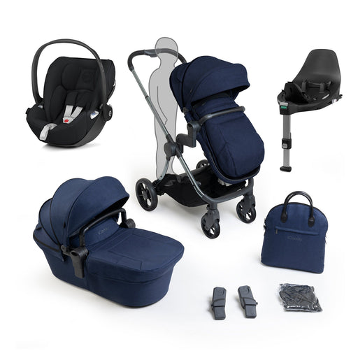 iCandy Lime Lifestyle travel system bundle with Cybex Cloud Z - Phantom Navy