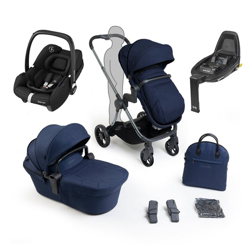 iCandy Lime Lifestyle travel system bundle with Maxi-Cosi Tinca - Phantom Navy