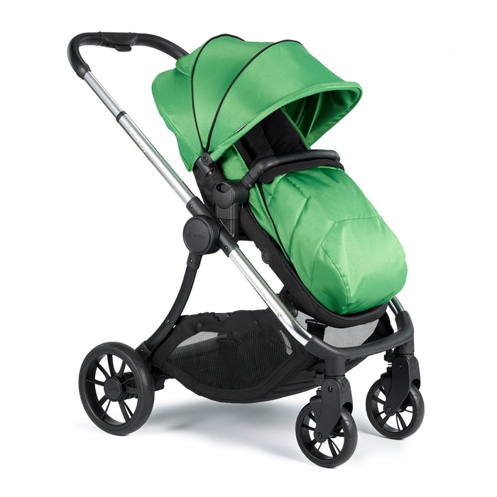 iCandy Lime Pushchair and Carrycot - Chrome/Lime - Pushchair Expert