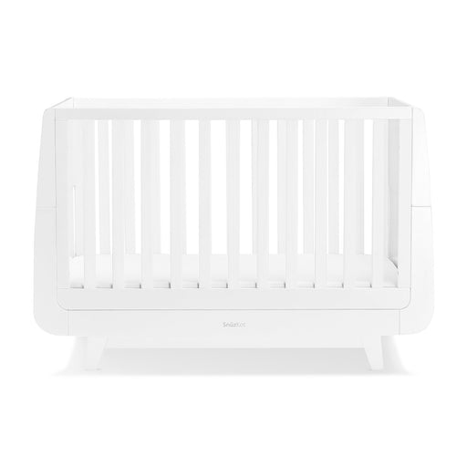 SnuzKot Luxe Cot Bed – White + FREE toddler rails