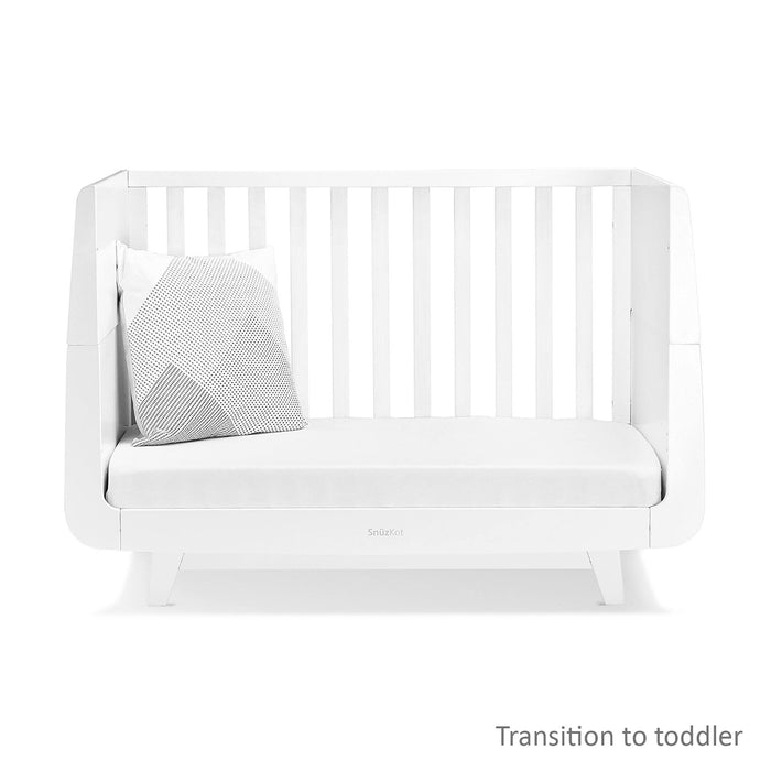 SnuzKot Luxe Cot Bed – White