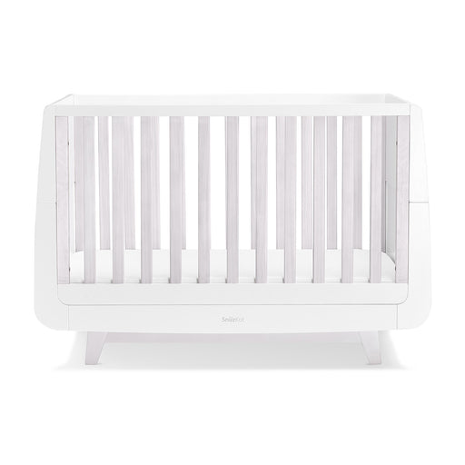 SnuzKot Luxe Cot Bed – Whitewash + FREE toddler rails