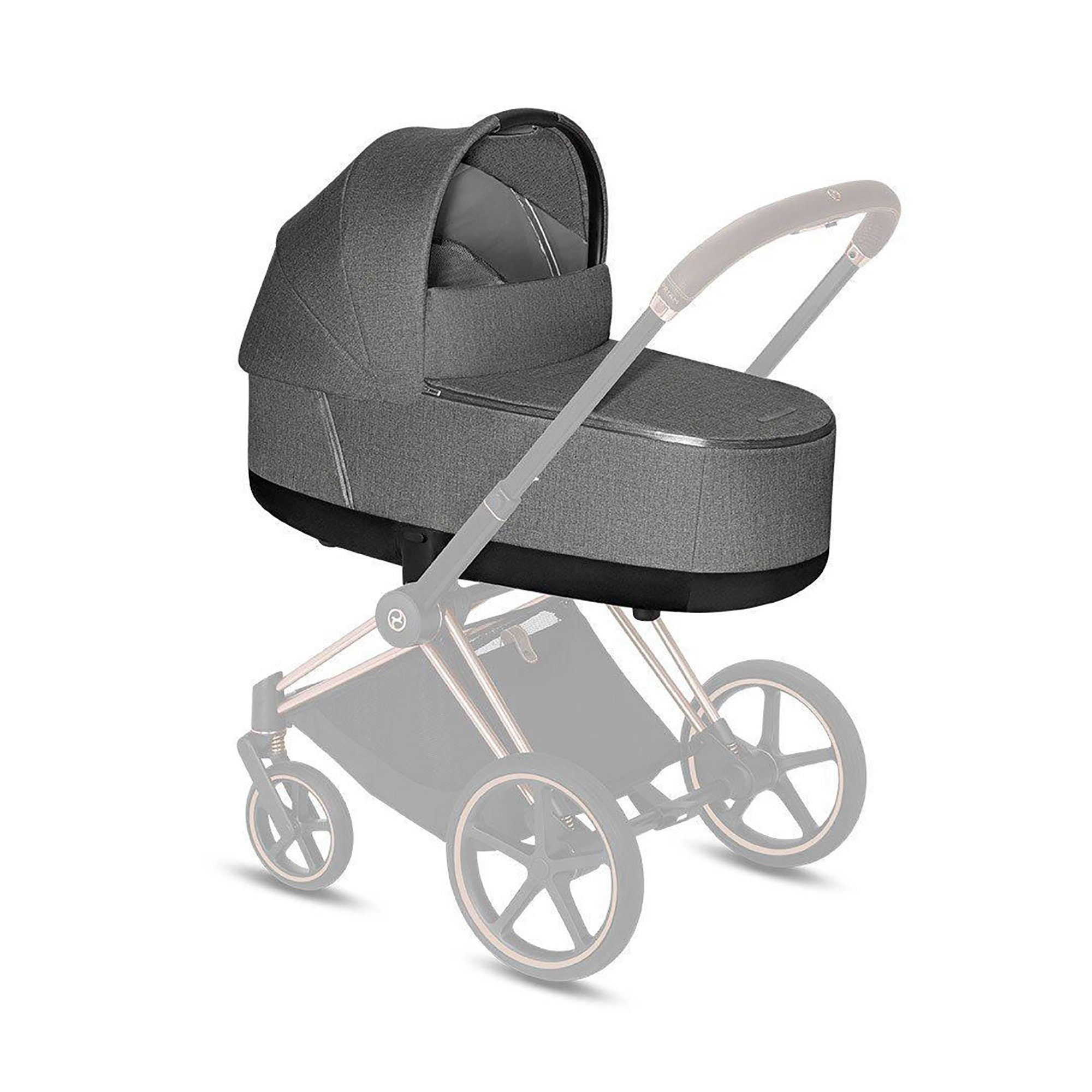 Cybex Priam LUX Carry Cot Plus - Manhattan Grey