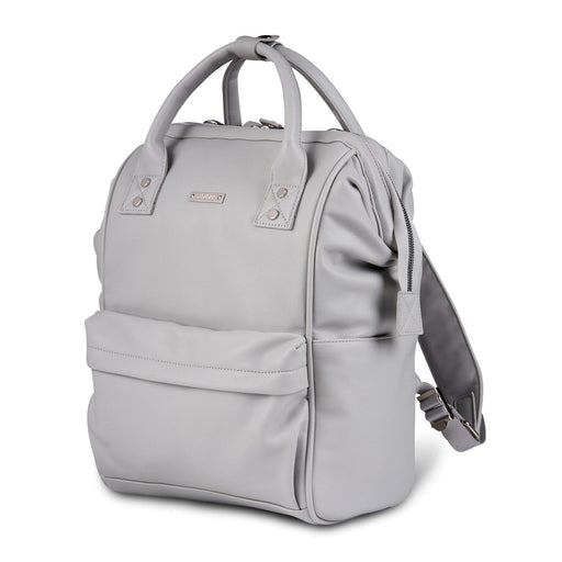 BabaBing! Mani Vegan Leather Backpack Changing Bag - Dove Grey