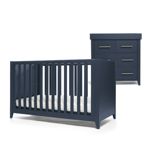 Mamas & Papas Melfi 2-piece room set (Cot Bed and Dresser) - Midnight Blue