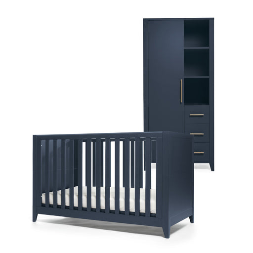 Mamas & Papas Melfi 2-piece room set (Cot Bed and Compact Wardrobe) - Midnight Blue