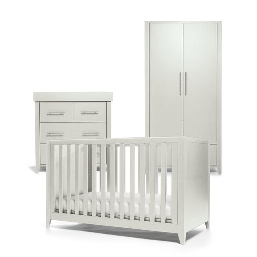 Mamas & Papas Melfi 3-piece room set (Cot Bed, Dresser and Full-Sized Wardrobe) - Cool Grey