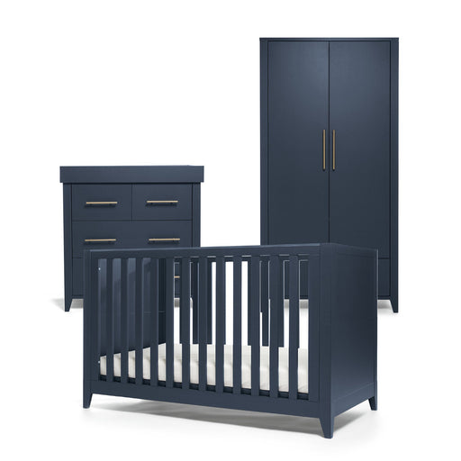 Mamas & Papas Melfi 3-piece room set (Cot Bed, Dresser and Full-Sized Wardrobe) - Midnight Blue