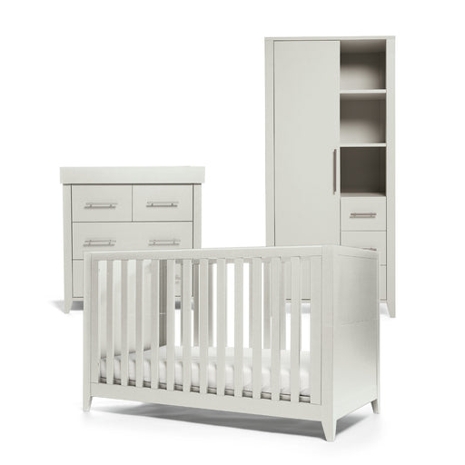 Mamas & Papas Melfi 3-piece room set (Cot Bed, Dresser and Compact Wardrobe) - Cool Grey