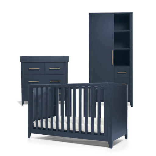 Mamas & Papas Melfi 3-piece room set (Cot Bed, Dresser and Compact Wardrobe) - Midnight Blue